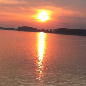 apus in granita la Dunare