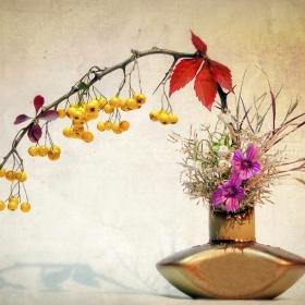 Ikebana in culori de toamna