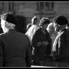 Old man reflexion