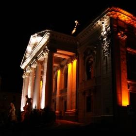 Theatre at night