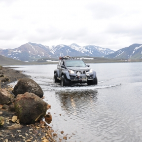 Traversare prin lac