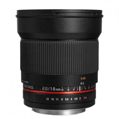 Samyang 16mm f/2 - montura Fuji X