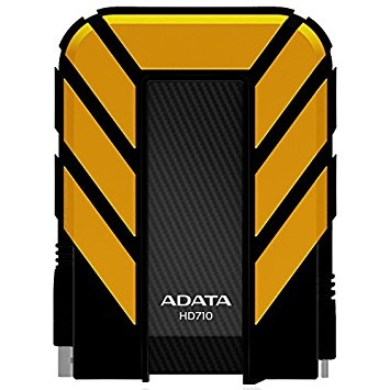ADATA HD710 - HDD extern, 2TB, USB 3.0, Galben, Waterproof & Shockproof