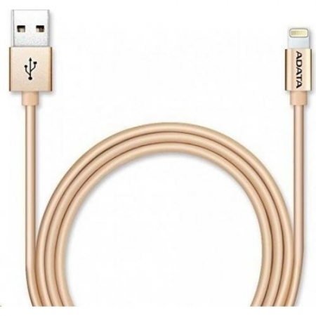 ADATA - Cablu USB de incarcare/ date, MFi (iPhone, iPad, iPod), Auriu