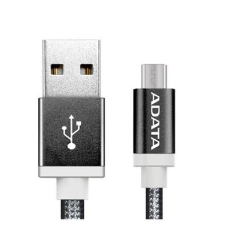 ADATA - Cablu USB de incarcare/ date pentru Android, Negru