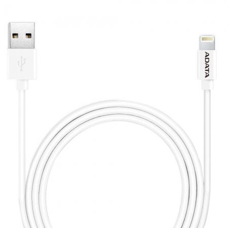 ADATA - Cablu de date, incarcare, Lightning, MFI, pentru iPhone, Alb
