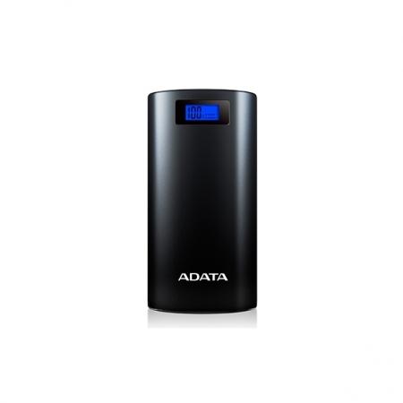 ADATA P20000D - Baterie externa 20000mAh, lanterna LED, Negru