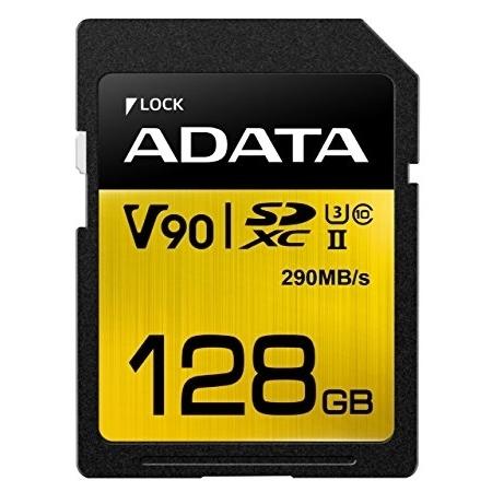 ADATA Premier One SDXC 128GB, UHS-II, U3, Class 10, V90, 290MB/s