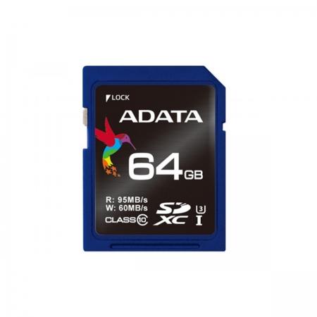 ADATA Premier Pro SDXC, 64GB, UHS-I, U3