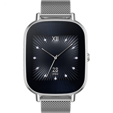 ASUS ZenWatch 2 WI502Q - Smartwatch, Otel Inoxidabil + Curea Metal, Argintiu