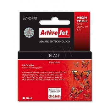ActiveJet replace Canon CLI-526BK (10ml) - Pixma iP4950