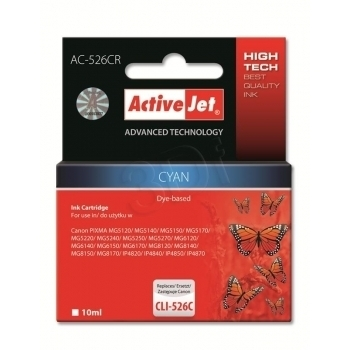 ActiveJet replace Canon CLI-526C (10ml) - Pixma iP4950