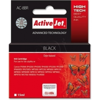 ActiveJet replace Canon CLI-8BK (15ml) - Pixma Pro9000