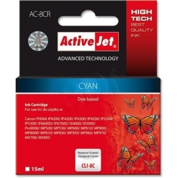 ActiveJet replace Canon CLI-8C (15ml) - Pixma Pro9000