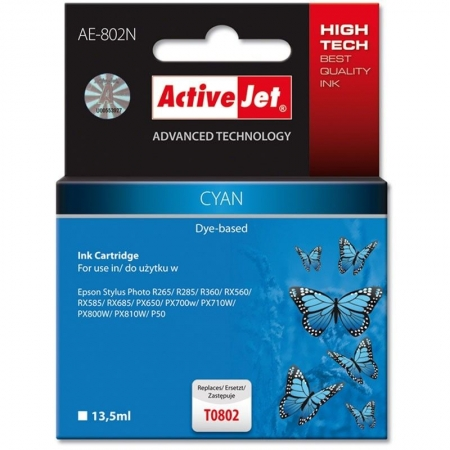 ActiveJet replace Epson T0802 cyan (13.5ml )