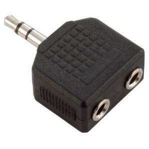 Adam Hall - Adaptor Jack stereo 2 x 3.5mm la Jack stereo 3.5mm