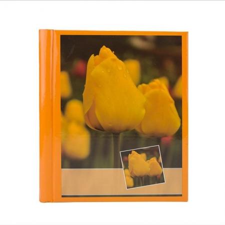 Album foto Orange Flower, 10 file autoadezive, 20 pagini foto, 23x28cm, Portocaliu