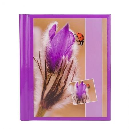 Album foto Purple Flower, 10 file autoadezive, 23x28cm, Mov
