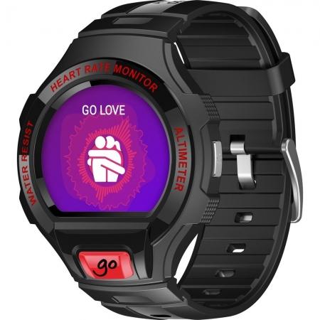 Alcatel OneTouch Go Watch - SM03 49.2 mm - Negru/ Rosu Inchis