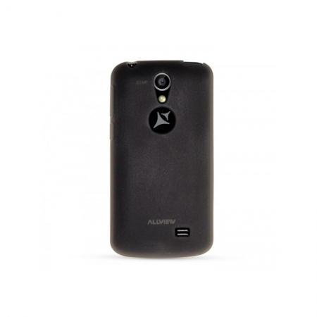 Allview - Capac protectie spate silicon pentru A5 / C5 Smiley - negru