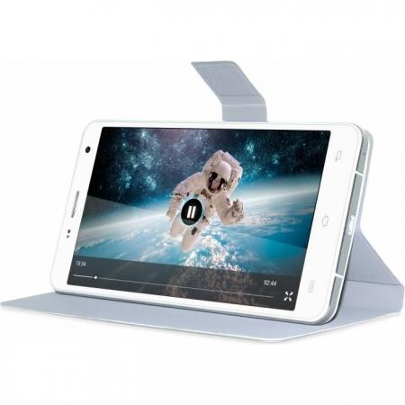 Allview - Husa protectie tip book flip pentru P6 Qmax - alba