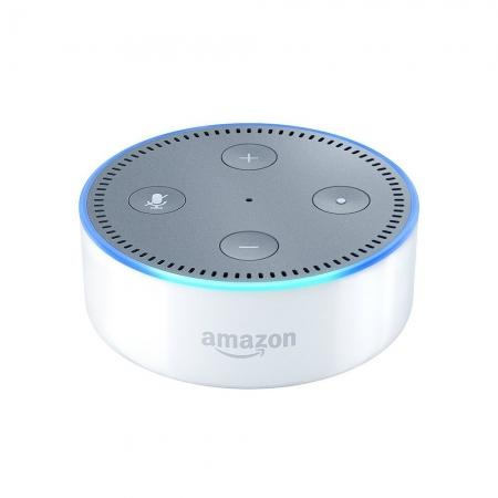 Amazon Echo Dot (2nd Gen) - Boxa portabila, Alb