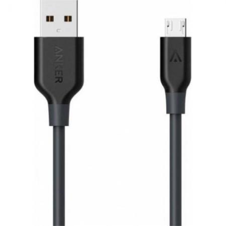 Anker - Cablu microUSB premium, 3m, Negru