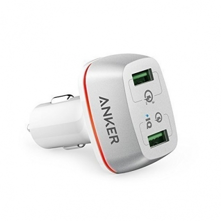 Anker PowerDrive+ 2 - Incarcator auto, 42W, Qualcomm Quick Charge 3.0, Alb