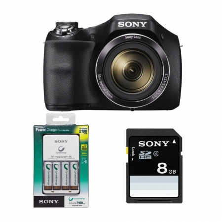 Aparat foto Sony Cyber-shot DSC-H300 ,20.1 Mp, Zoom 35x,+ card + incarcator RS125010372-9