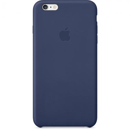 Apple - husa capac spate piele pentru iPhone 6 Plus - albastru