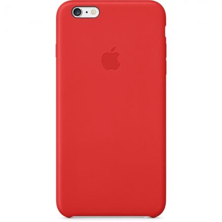 Apple - husa capac spate piele pentru iPhone 6 Plus - rosu