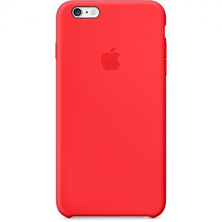 Apple - husa capac spate silicon pentru iPhone 6 Plus - rosu