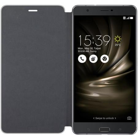 Asus - Husa tip Folio Cover pentru Asus Zenfone 3 Ultra ZU680KL, Negru