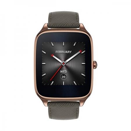 Asus Smartwatch Zenwatch 2 Carcasa Aurie Si Curea Piele Negru