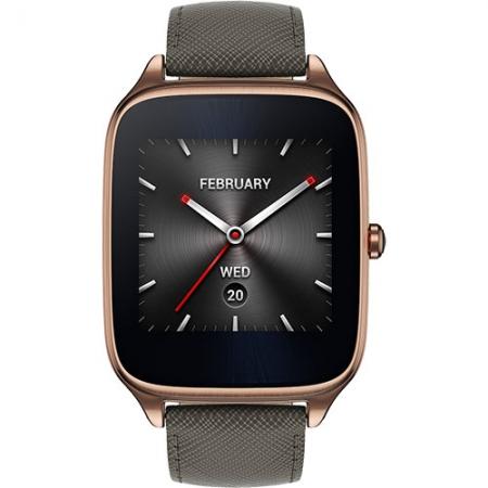 Asus ZenWatch 2 - Smartwatch Auriu Si Curea Piele Gri
