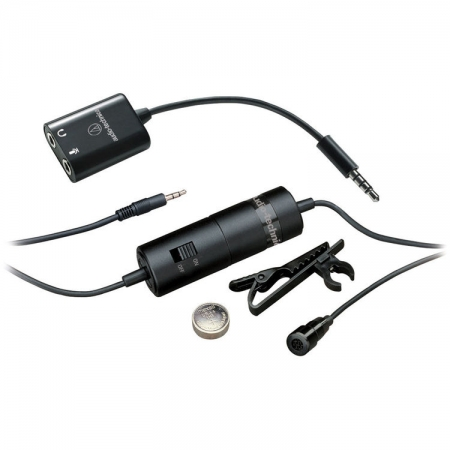 Audio-Technica ATR3350iS - Microfon lavaliera omnidirectional cu alimentare