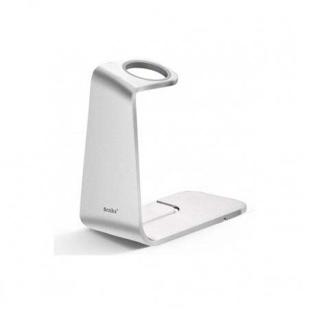 Benks - Suport premium pentru Apple Watch, Aluminiu, Argintiu