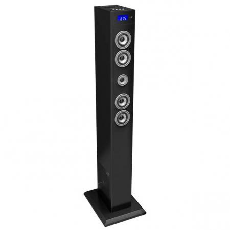 BigBen Multimedia Tower TW2N - sistem audio 2.1 cu docking station pentru iPod/iPhone si radio FM