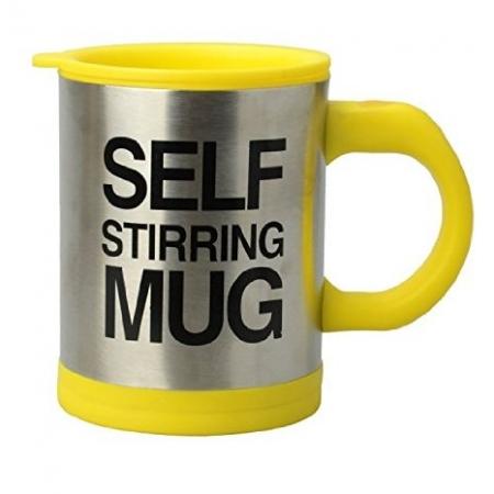 Cana Self Stirring Mug - cana galbena