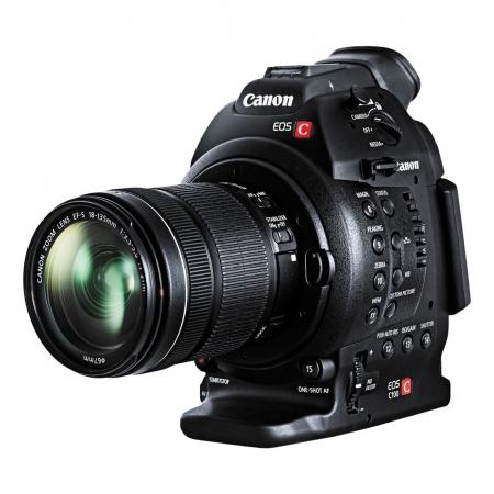 Canon EOS C100 DAF (Dual Pixel CMOS AF) kit cu EF-S 18-135 STM - camera cinema profesionala