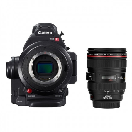 Canon EOS C100 Mark II Kit cu EF 24-105  - Camera cinema profesionala
