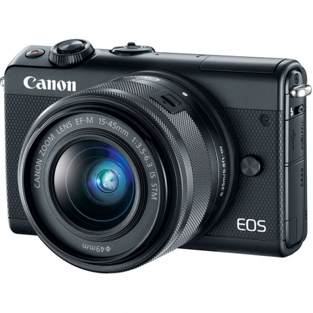 Canon EOS M100 kit EF-M 15-45mm f/3.5-6.3 IS STM, Negru
