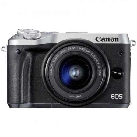 Canon EOS M6 Kit EF-M 15-45mm IS STM, argintiu