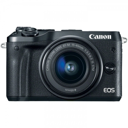 Canon EOS M6 Kit EF-M 15-45mm IS STM, negru