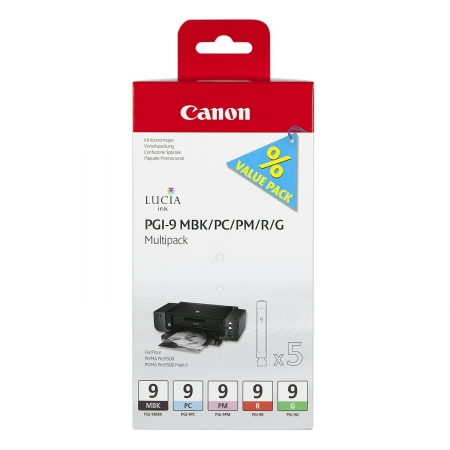 Canon PGI-9 Multipack 2 - set 5 cartuse MBK/PC/PM/R/G - Pixma Pro 9500