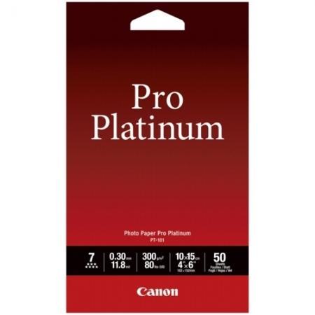 Canon PT-101 - Hartie foto Paper Pro Platinum, 10x15 cm, 50 foi, 300 g