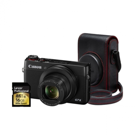 Canon PowerShot G7 X - kit toc piele si SD 16GB