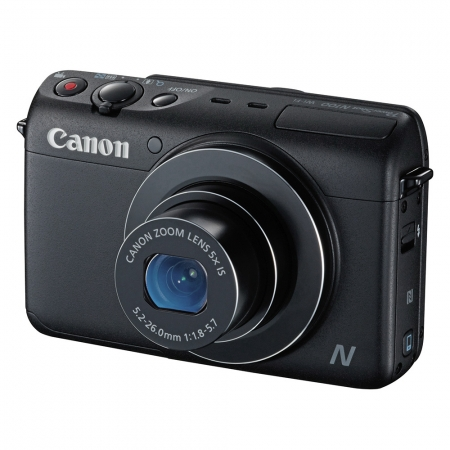 Canon PowerShot N100 negru - 12.1 Mpx, zoom optic 5x, wide 24mm f/1.8, Full HD