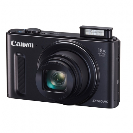 Canon PowerShot SX610 HS negru - 20 Mpx, zoom optic 18x, Full HD, Wi-Fi si NFC