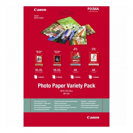 Canon VP-101 Photo Paper Variety Pack A4 si 10 x 15 cm